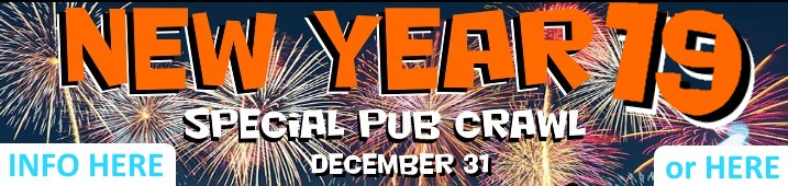 new year pub crawl banner front page
