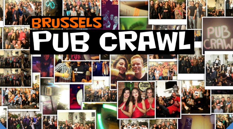 photo group pic barcrawl brussels collage