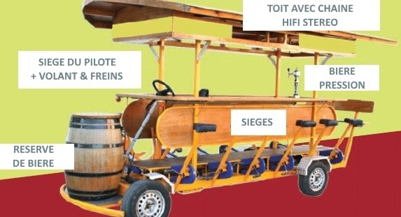 beer bike description en francais